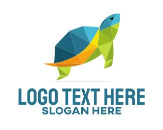 Tortoise - Geometric Turtle logo design