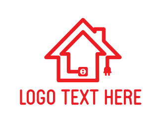 Plug In - House Plug logo design