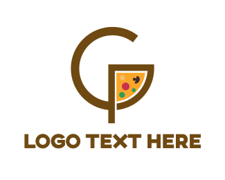 Food Chain - Pizza Slice G logo design