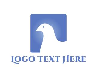 Negative Space - White Bird logo design