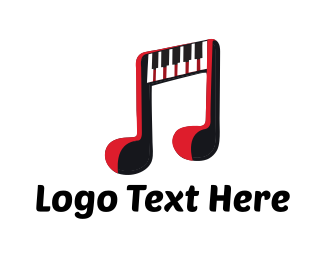 Keyboard - Piano Music logo design