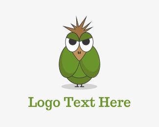 Unique - Angry Green Bird logo design