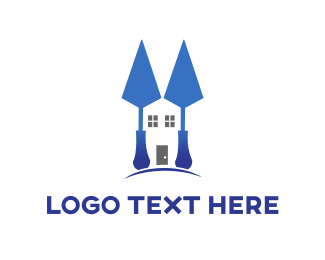 Drywall - Blue Spatula Home logo design