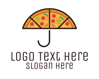 Umbrella - Umbrella & Pizza logo design