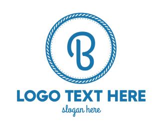 Beachwear - Nautical B Circle logo design