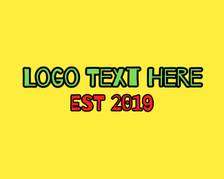 Green And Yellow - Jamaican Font logo design