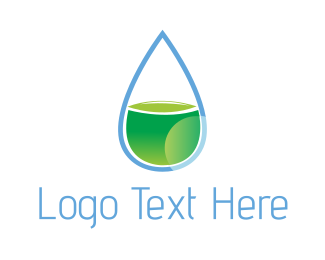 Lemonade - Green Drop logo design