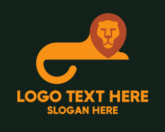 Egypt - Orange Lion Tail logo design