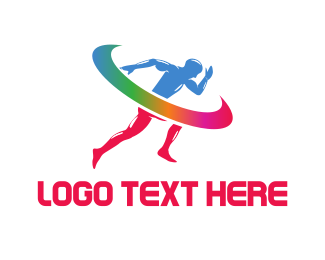 Gymnast - Colorful Sprint  logo design
