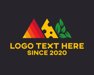Cheese - Food Triangles logo design