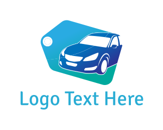 Label - Blue Car Tag logo design