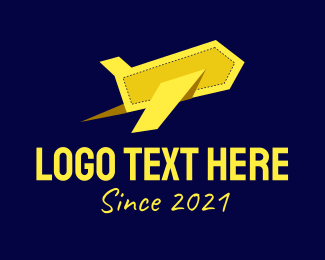 Pilot - Yellow Plane logo design