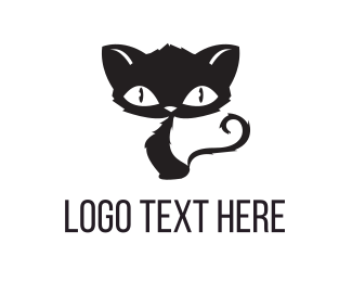 Adorable - Scary Cat logo design