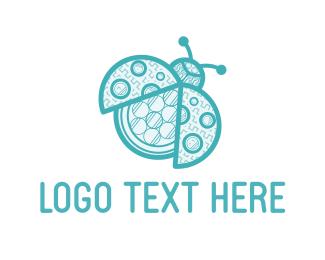 Insect - Blue Ladybug logo design