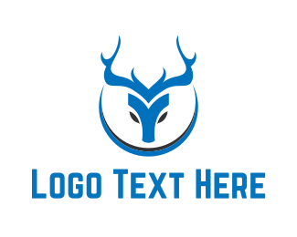 Reindeer - Blue Deer logo design