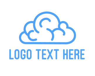 Artificial Intelligence - Brain Cloud logo design