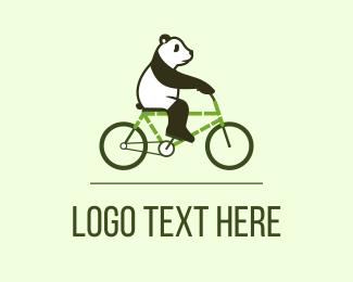 China - Eco Panda Bike logo design