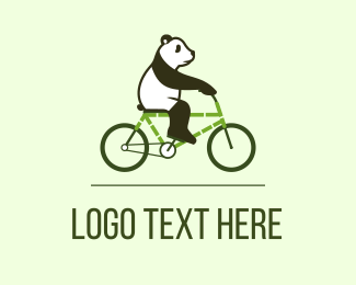Sustainability - Eco Panda Bike logo design