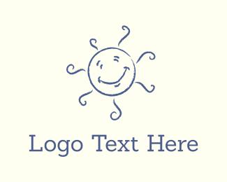 Child Care - Happy Sun logo design