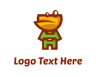 Toad - Letter Character logo design