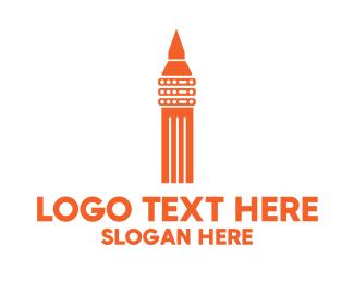 Modem - Server Tower logo design