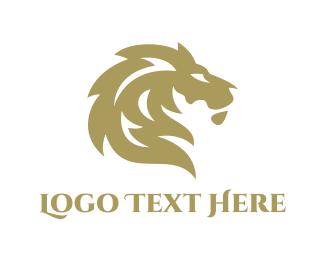 High Quality - Golden Lion Silhouette logo design