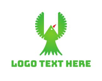 Bookmark - Green Bird Banner logo design