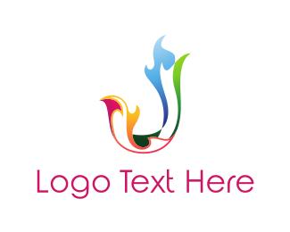 Combustion - Colorful Letter J logo design