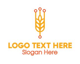 Rice - Modern Rice Grain logo design