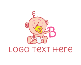 Pediatrician - Baby & Letter B logo design