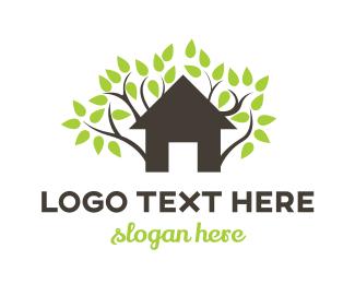 Vine - Tree Vine House logo design