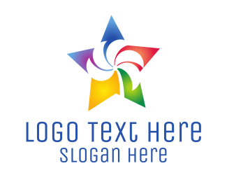 Design Agency - Colorful Palm Star logo design
