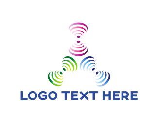 Vibration - Wave Trio logo design