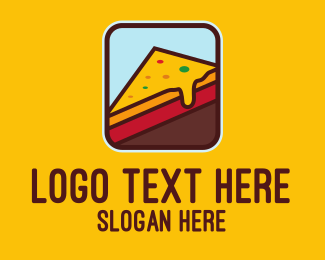 Snack - Cheesy Slice logo design