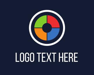 Rgb - Colorful Camera Shutter logo design