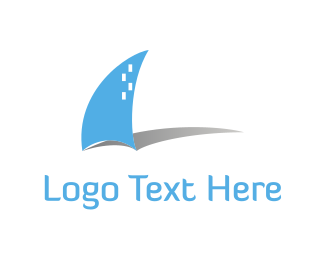 Shadow - Blue Boat logo design