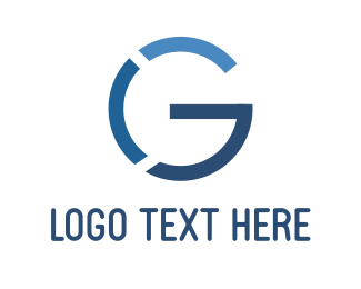 Earth - Blue Letter G logo design