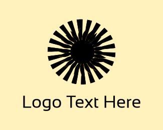 Sunflower - Black Flower logo design
