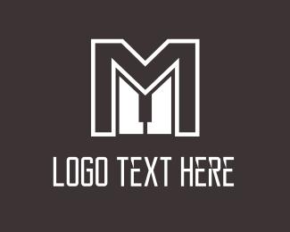 Piano - Master M Piano logo design