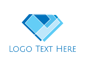 Luxury - Mosaic Modern Diamond logo design