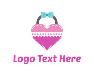 Purse - Heart Bag logo design