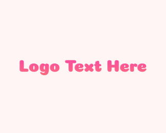 Playground - Gradient Pink Text logo design