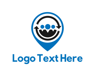 Human Resources - People Locator logo design