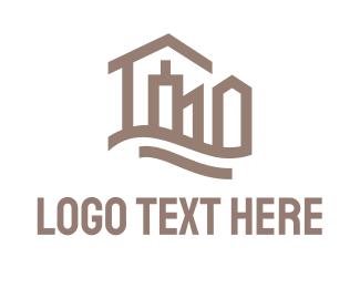 Apartment - Abstract City logo design