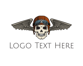 Automotive - Pilot Skull logo design