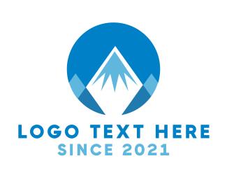 Highlands - Circle Mountain Peak logo design