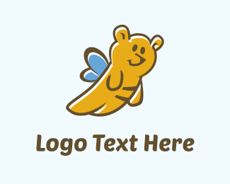 Honey - Teddy Bee logo design