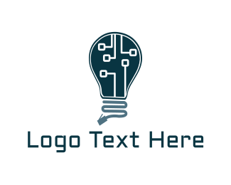 Electronics - Lamp Circuit  logo design