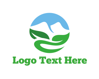 Sustainability - Mountain Circle logo design