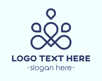 Life Coaching - Abstract Meditation logo design